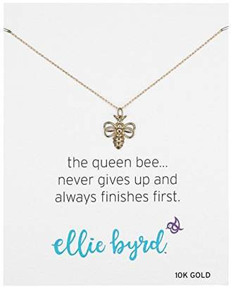 Bumble Bee ellie byrd 10k Gold Bumblebee Pendant Necklace