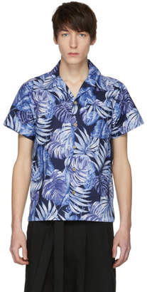 Naked & Famous Denim Denim Navy Aloha Shirt