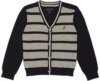 Nautica Little Boys Stripe Cardigan Sweater