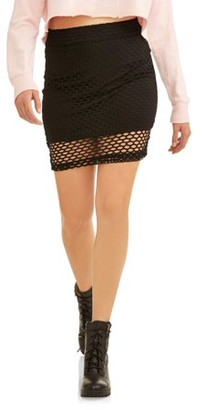 Derek Heart Juniors' Mermaid Mesh Fishnet Skirt with Lining