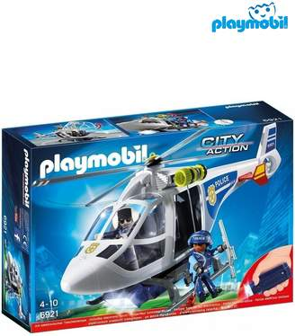 Next Boys Playmobil City Action Police Helicopter With LED Searchlight