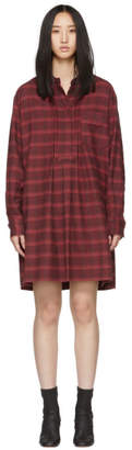 Etoile Isabel Marant Red Flannel Dancy Dress