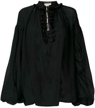 Saint Laurent sheer loose blouse