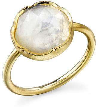 Irene Neuwirth Rose Cut Rainbow Moonstone Ring