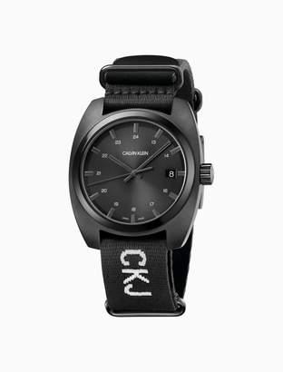 Calvin Klein Achieve Black Nato Black Dial Watch