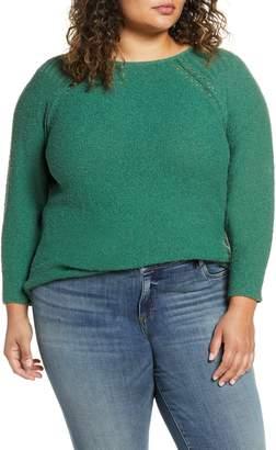 Caslon Boucle Bateau Neck Sweater