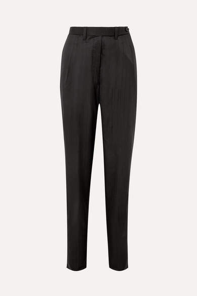 Giuliva Heritage Collection Wool Straight-leg Pants - Black