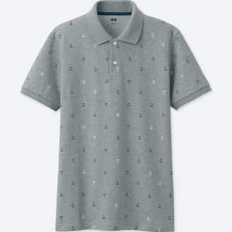 Uniqlo MEN Dry Pique Printed Short Sleeve Polo Shirt