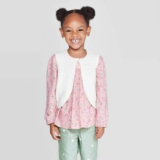 Osh Kosh Toddler Girls' Sweater Vests - White