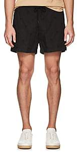 Tomas Maier MEN'S PALM-TREE-EMBROIDERED COTTON DRAWSTRING SHORTS-BLACK SIZE S