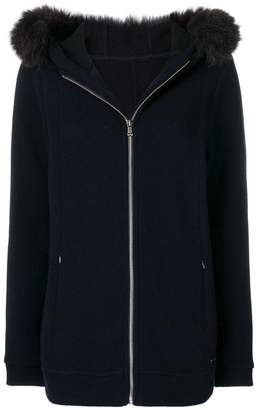 Woolrich hooded zipped cardigan