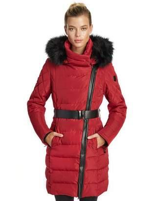 085133d7a74d Ash Noize Women s Brooklyn Mid Length Insulated Faux Fur Hood Winter Parka  Jacket