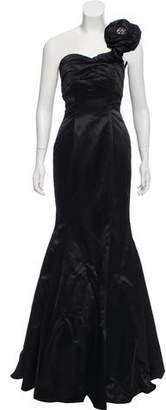 Jovani Black One Shoulder Gown w/ Tags