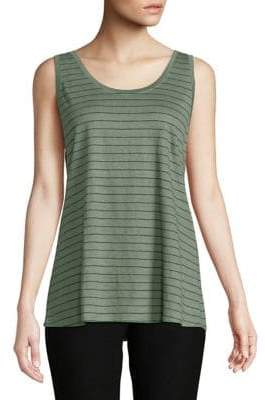 Eileen Fisher Striped Linen Tank Top