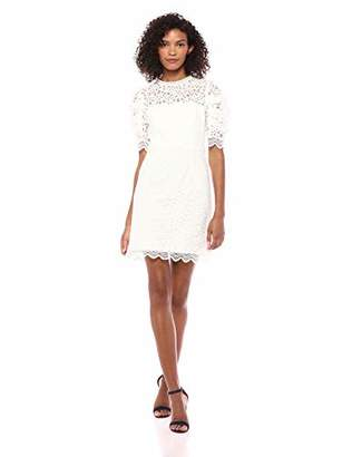 Milly Women's Floral Lace Short Sleeveless Kara Dress