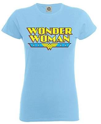 DC Comics Girls Official Wonder Woman Logo T-Shirt,(Manufacturer Size:32/34 inches Chest)