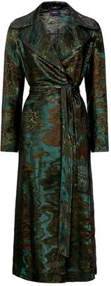 Akris Tosh Wool-Silk Jacquard Coat