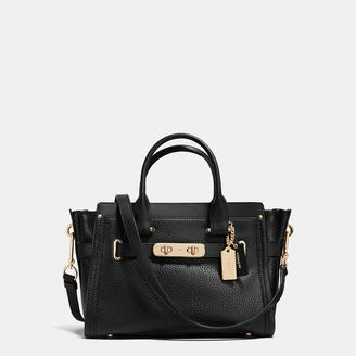 COACH Coach Swagger Carryall 27 In Pebble Leather $450 thestylecure.com
