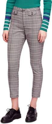 Free People Crop Plaid Trousers