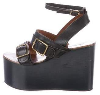 Isabel Marant Leather Flatform Wedge Sandals