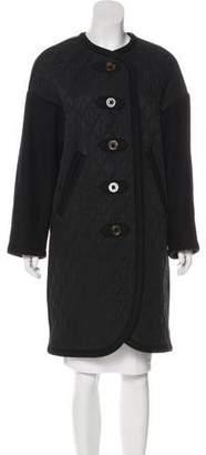 Sonia Rykiel Wool Trim Quilted Coat