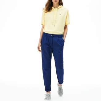Lacoste Women's High Waisted Pleated Jeans