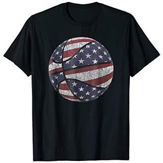 USA Flag Basketball T Shirt American Flag 4th of July Shirt