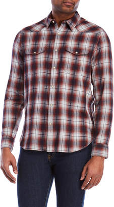 Lucky Brand Plaid Western Sport Shirt