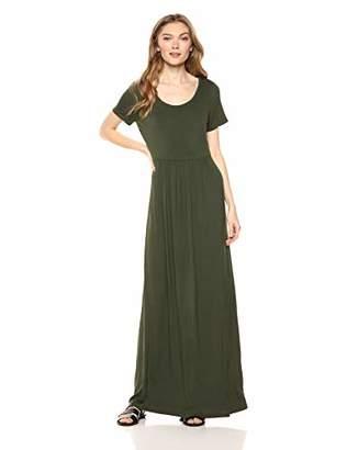 Amazon Brand - Daily Ritual Women's Jersey Short-Sleeve Empire-Waist Maxi Dress