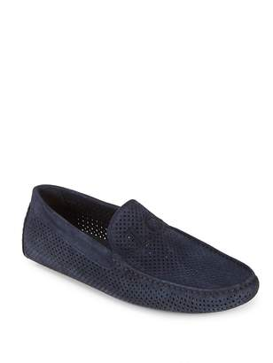 Galliano Men's Perforated Suede Drivers