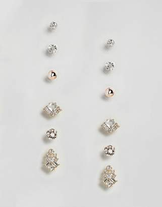 True Decadence Gold Embellished Stud Multi Pack of Six (+)