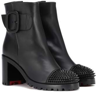 Christian Louboutin Olivia Snow 70 leather ankle boots