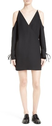 Women's Iro Lebeca Surplice Cold Shoulder Dress $458 thestylecure.com