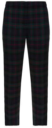 Burberry Zip Detail Check Trousers