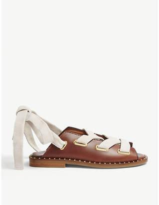 Maje Leather flat sandals