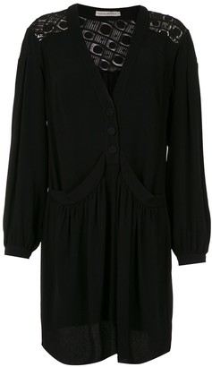 Martha Medeiros long sleeved shirt dress