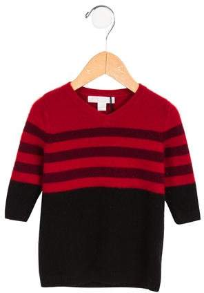 Boys' Striped Cashmere Sweater