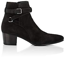 Saint Laurent Women's Blake Suede Jodhpur Boots - Charcoal