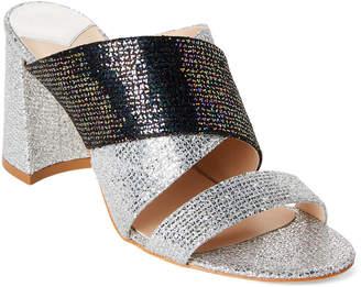 Polly Plume Molly Acapulco Metallic Block Heel Slide Sandals