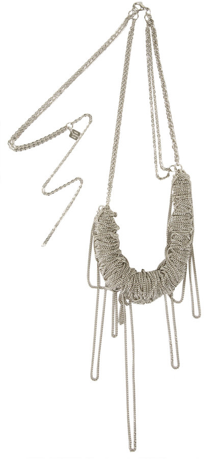 One Grey Day Silver Multistrand Metal Rope Necklace