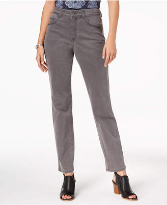 Style&Co. Style & Co Rail Tummy-Control Straight-Leg Jeans, Created for Macy's