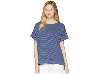 Fresh Produce Pinstripe Riley Top Women's Short Sleeve Pullover
