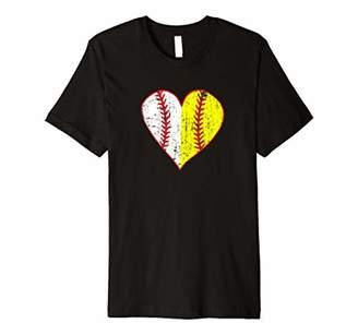 Primitive Play Ball Love Baseball Softball Mom Heart Premium T-Shirt