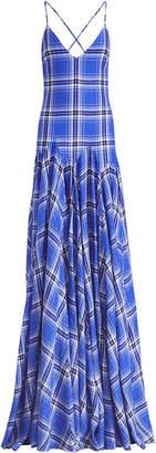 Ralph Lauren Nadeesha Check Evening Dress