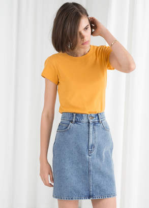 And other stories High Waisted Denim Mini Skirt