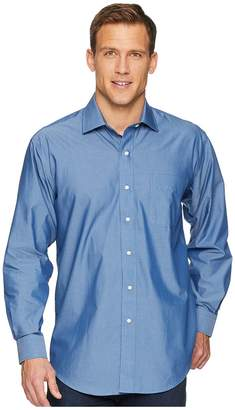 Magna Ready Long Sleeve Magnetically-Infused Solid Dress Shirt - Spread Collar Men's Clothing