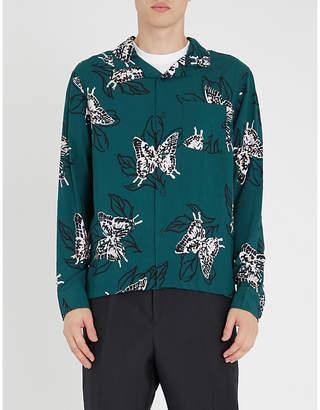 Stussy Butterfly-print regular-fit woven shirt