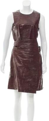Calvin Klein Collection Sleeveless Eel Leather Dress w/ Tags