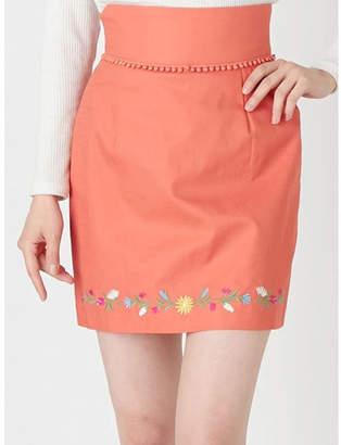 dazzlin (ダズリン) - dazzlin フラワーヘム刺繍ミニスカート