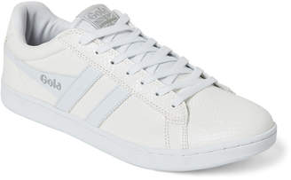 Gola White Equipe Snake-Effect Low-Top Sneakers